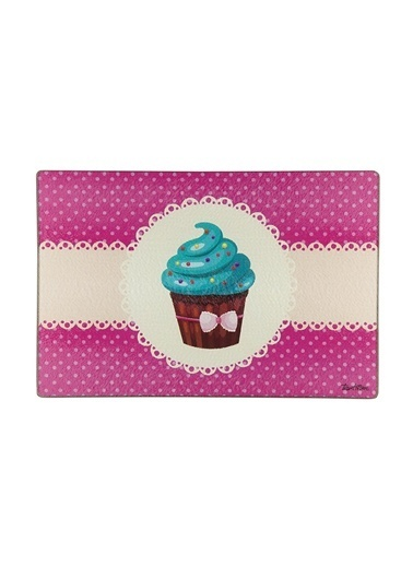 Cam Cupcake Des. Kesme Tahtası 34.5X24.5Cm-Tantitoni